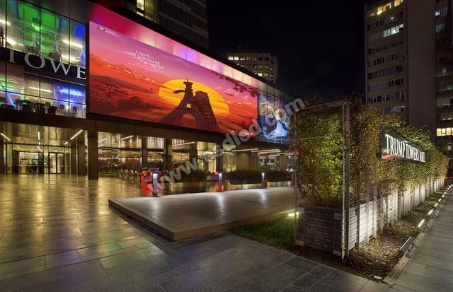土耳其伊斯坦布尔特朗普大厦-未来系列P18.75 LED广告屏
