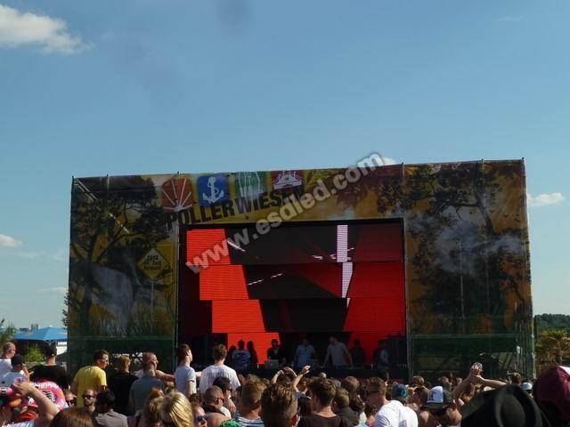 德国舞台租赁户外全彩LED显示屏