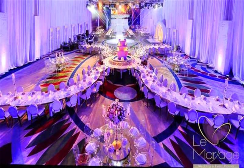 黎巴嫩婚礼现场舞台租赁屏P4.81户内炫彩LED显示屏