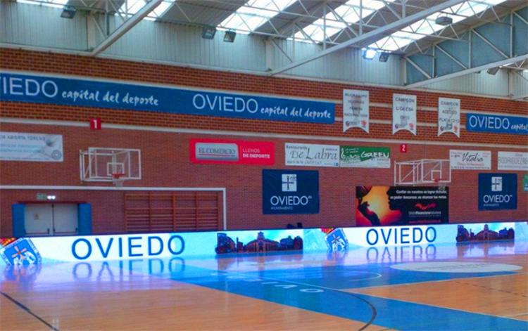 西班牙户外球场屏P16全彩led显示屏