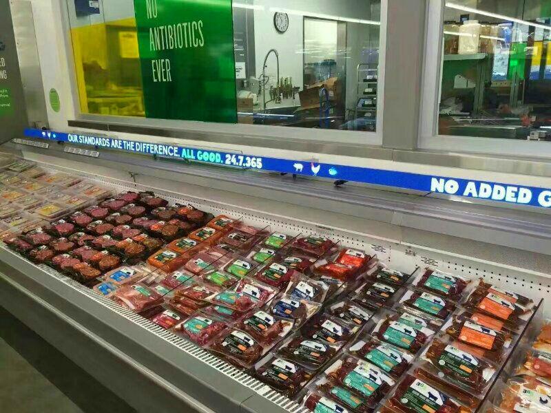 美国某超市LED全彩货架屏