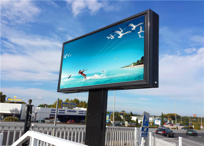 易事达户外全彩LED广告屏应用于法国的项目