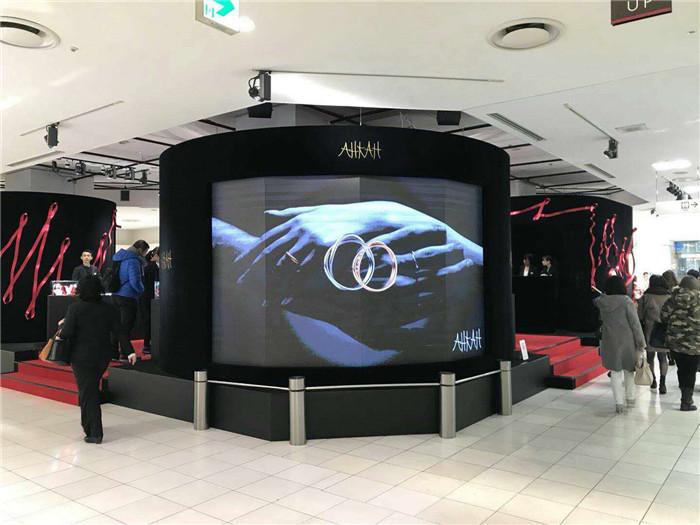 易事达助力新宿伊势丹,LED显示屏凸显品牌会所魅力势不可挡!
