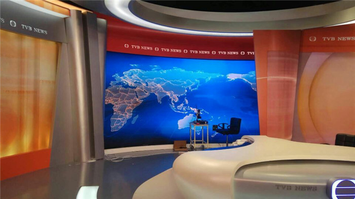 易事达小间距LED显示屏进驻香港TVB电视台!