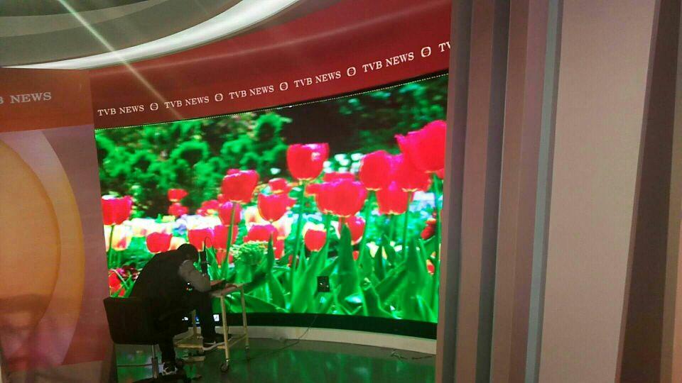 易事达小间距屏助力香港TVB电视台