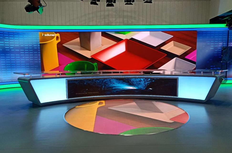 易事达上海某电视台多功能演播厅案例